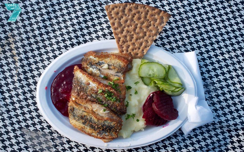 Fried Herring Sandwich, Stockholm